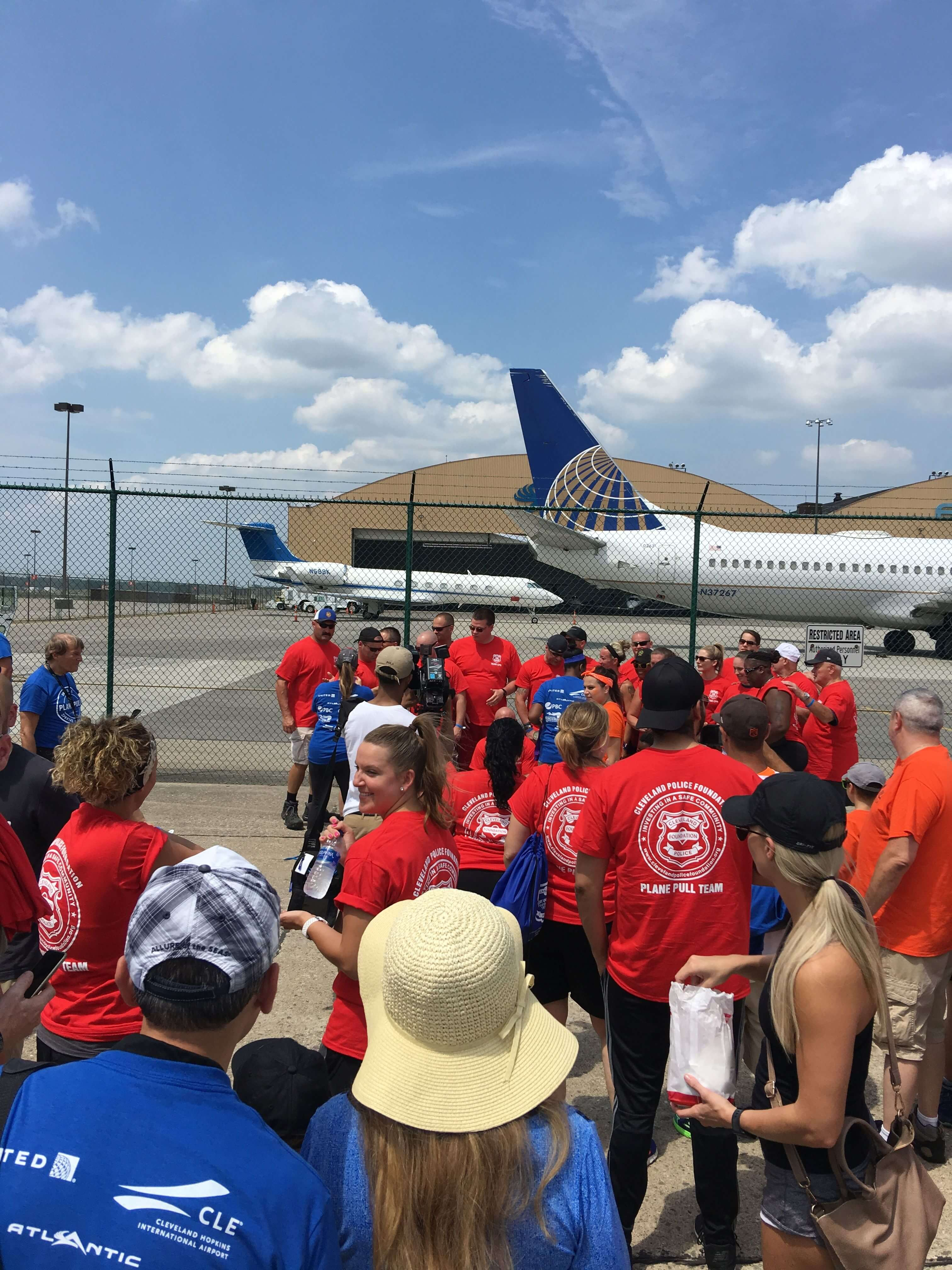 United Airlines Special Olympics Plane Pull